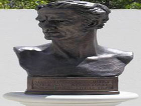 Adam Lindsay Gordon Bronze Bust - Accommodation in Brisbane