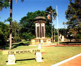 Esk War Memorial and Esk Memorial Park - Accommodation in Brisbane