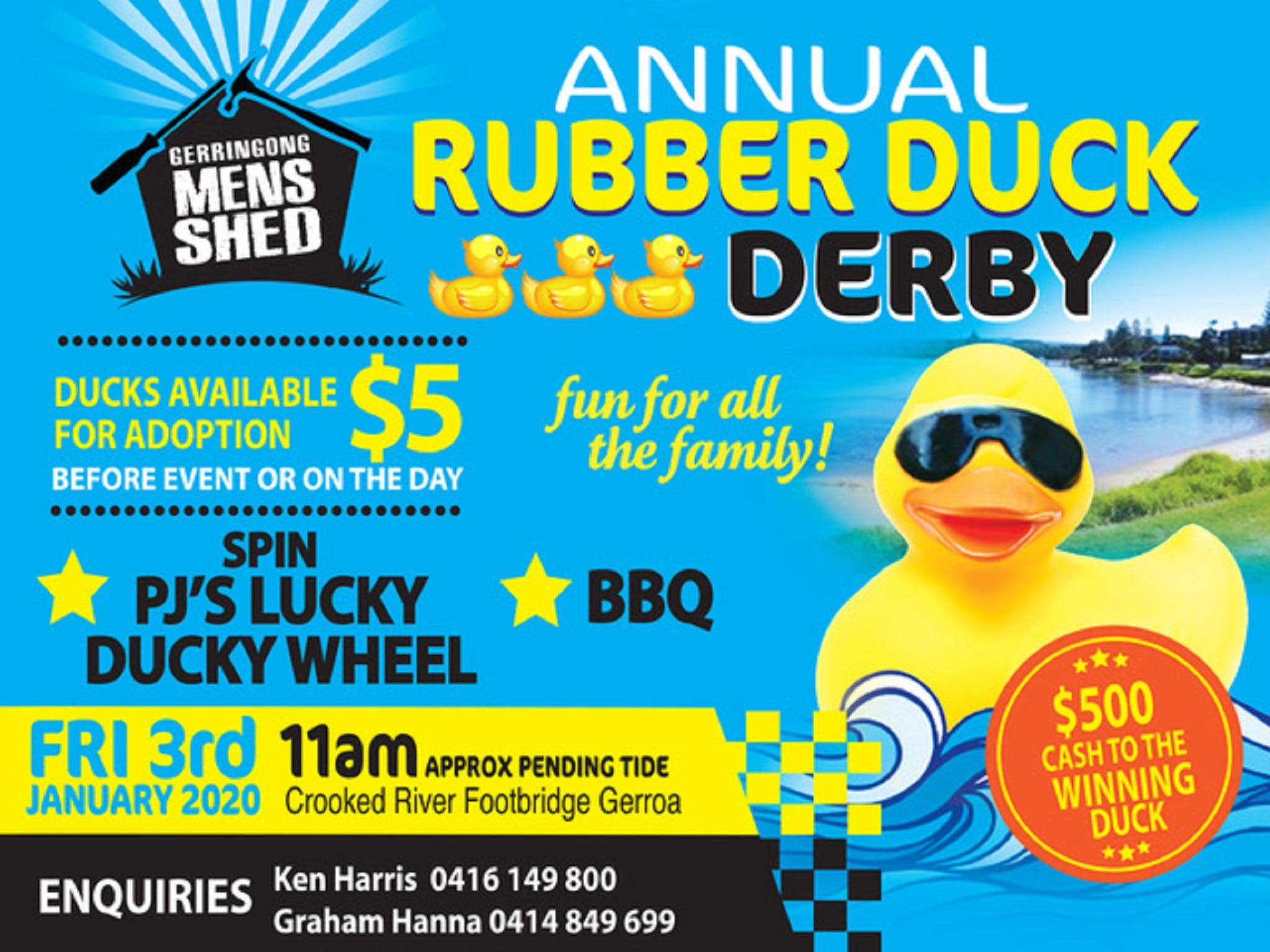 Gerringong Mens Shed Annual Duck Derby - Accommodation in Brisbane