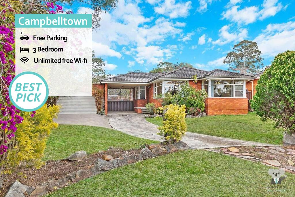 CAMPBELLTOWN HOLIDAY HOME 3 BED  FREE PARKING NCA039 - Accommodation in Brisbane